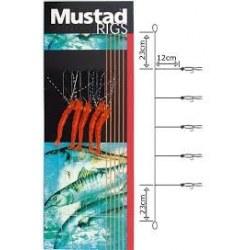 Bajo Mar Mustad T51Shrimp 5 anzuelos num.2