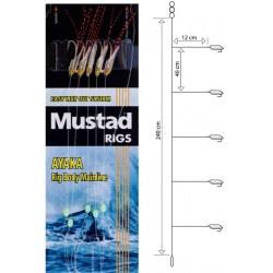 Bajo Mar Mustad T84 Teaser 5 anzuelos T/4