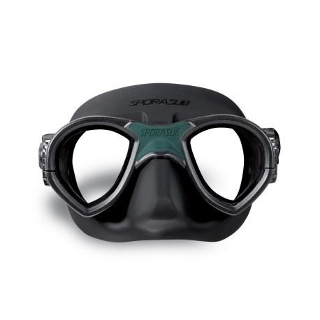 Máscara Sporasub Mystic negra/negra