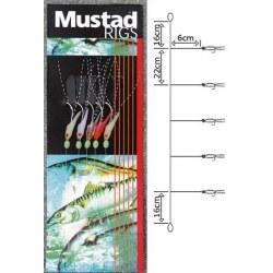Bajo Mar Mustad T18A Shrimp Bait 4 anzuelos num.4