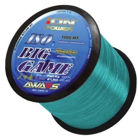 0.35 monofilament AWA-SHIMA ION POWER BIG GAME BLUE 1000mt