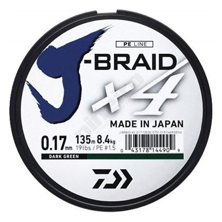 Trenzado Daiwa J-BRAID X4 270mt